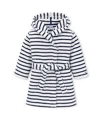 robe de chambre garcon peignoir petit garçon blanc lait bleu petit bateau