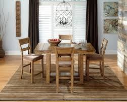 Ashley Dining Room by Krinden Rectangular Counter Height Extendable Dining Room Set From