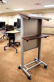 Lectern Desk Stand Up Desk Store Mobile Adjustable Height Lectern Podium Heavy