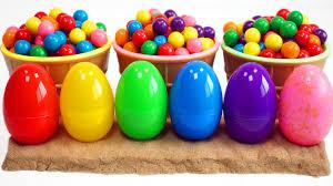 easter egg gum learn colors gum kinetic sand eggs toys go