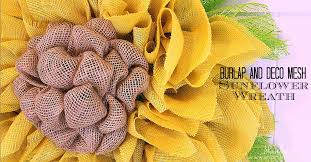 burlap sunflower wreath shambray burlap and deco mesh sunflower wreath