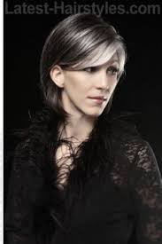 funky hairstyle for silver hair the hairstyles bob are made in three lengths long hair medium