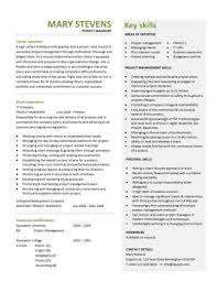 Project Manager Resume Skills Resume by Another Interview Winning Project Manager Cv Work Life