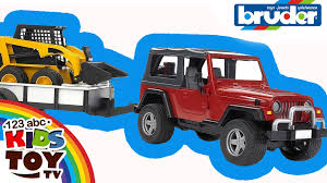 car jeep toy car jeep with trailer and minitransporter from bruder cool