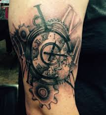 cross tattoo on bicep pocket watch and cross tattoo on right bicep projecten om te