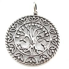 celtic tree of silver pendant p013