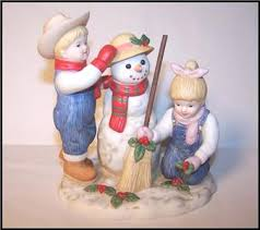homco home interior homco home interiors denim days time snowman figurine 56072