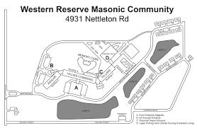Mason Ohio Map by Western Reserve Masonic Community Map U2022 Ohio Masonic Home