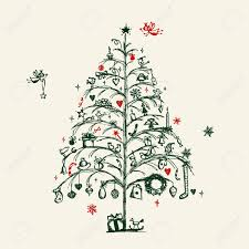 christmas tree sketch rainforest islands ferry
