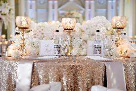 wedding ideas how to decorate with sequins glitter inside