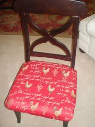 Cover Chairs Dining Room Ethnic Red Dining Chair Seat Cover With Printed