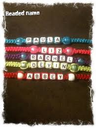 beaded name bracelets friendship bracelet name bracelet
