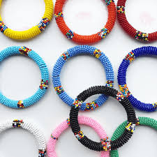 bangle beaded bracelet images Zulu beaded bracelets exotic body beads png
