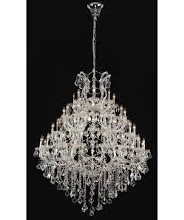 Maria Theresa 6 Light Crystal Chandelier Elegant Lighting 2800g46 Maria Theresa 46 Inch Wide 49 Light