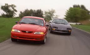 camaro z28 vs mustang gt 1994 ford mustang gt vs 1994 chevrolet camaro z28 pictures