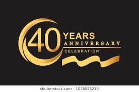40th anniversary color 40th anniversary stock images royalty free images vectors