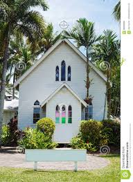 historic chapel exterior at port douglas stock photo image 86698608
