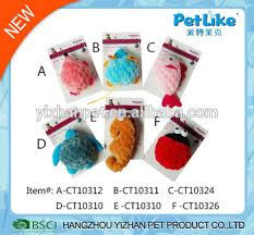 china supplier home decor pet products plush cat toys free samples