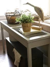 Ideas For Sofa Tables Build A Shutter Console Table Hgtv