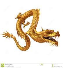 golden chinese dragon front stock photo image 31564490