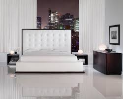 ludlow modern contemporary tufted queen bed by modloft l u0027angolo