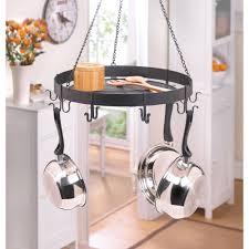 black metal chain hanging kitchen storage hook shelf pot pan