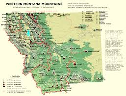 Western United States Map Peaklist Prominence Lists And Maps