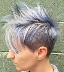 funky hairstyle for silver hair 70 short shaggy spiky edgy pixie cuts and hairstyles edgy