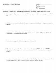 worksheet gas laws chemistry at central high