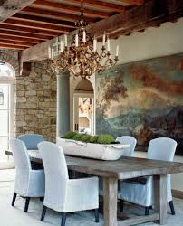 provence style dining room with white dough bowl decoration via