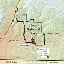 map of zion national park landscape patterns climate projections and species