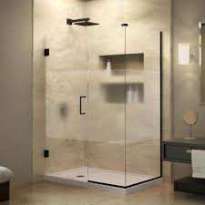 Glass Doors For Shower Dreamline Frosted Shower Doors Showers The Home Depot