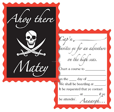 pirate invites adventures on the high seas day camp decoration