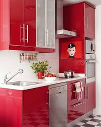Red Kitchen White Cabinets Best Open Cabinet Ideas With Modern White Wood Kitchen Cabinets