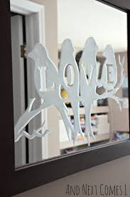 lovebirds etched mirror glass etching etchings and glass