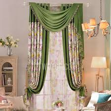 Pattern Window Curtains Fresh Botanical Pattern Polyester Cheap Window Curtains No Valance