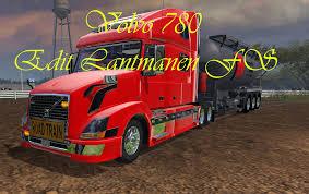 red volvo truck volvo 780 mod farming simulator 2015 15 mod