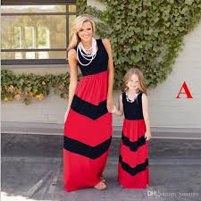 summer style family matching mother daughter dresses