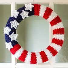 crochet halloween wreath 4th of july crochet patterns