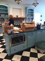 a blue kitchen turned new evolution of style