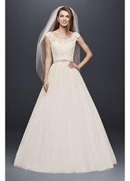 wedding dresses wedding dress with illusion neckline david s bridal