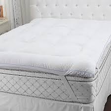sensorpedic microfiber gel fiber u0026 memory foam mattress topper