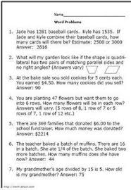 free printable worksheets for second grade math word problems