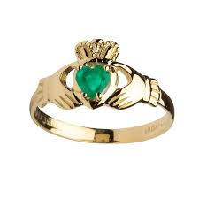 claddagh ring fallers claddagh rings 14k gold emerald claddagh ring fallers