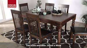 Hayley Dining Room Set Bengal Sheesham Dining Table By Furniture Choice Youtube