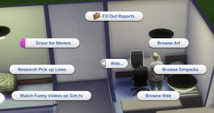 The Sims Memes - the sims 4 has a new option on computers if your sim is playful imgur