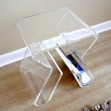 baxton studio transparent acrylic nesting tables hayneedle