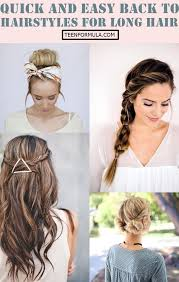 hairstyles for back to school for long hair 40 quick and easy back to school hairstyles for long hair
