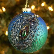 Peacock Blue Christmas Decorations by 272 Best Peacock Ornaments Images On Pinterest Peacock Ornaments