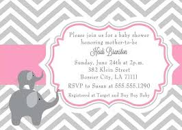 pink and grey baby shower pink and grey elephant baby shower invitations marialonghi